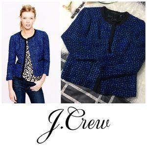 J.Crew Lady Jacket In Blue Tweed size 4